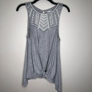 American Eagle Outfitters Gray Tank Top | Knotted